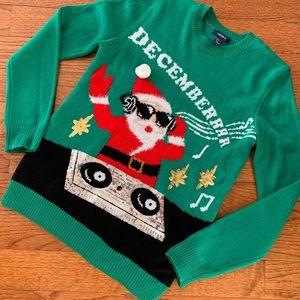 "Festive ""Decemberrrr"" Sweater NWOT"